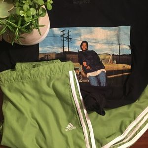 Green Adidas Capris